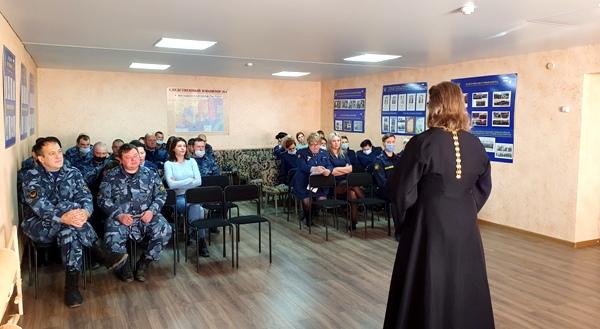 Помощник начальника УФСИН по работе с верующими провел профилактическую беседу о вреде курения с сотрудниками СИЗО-1